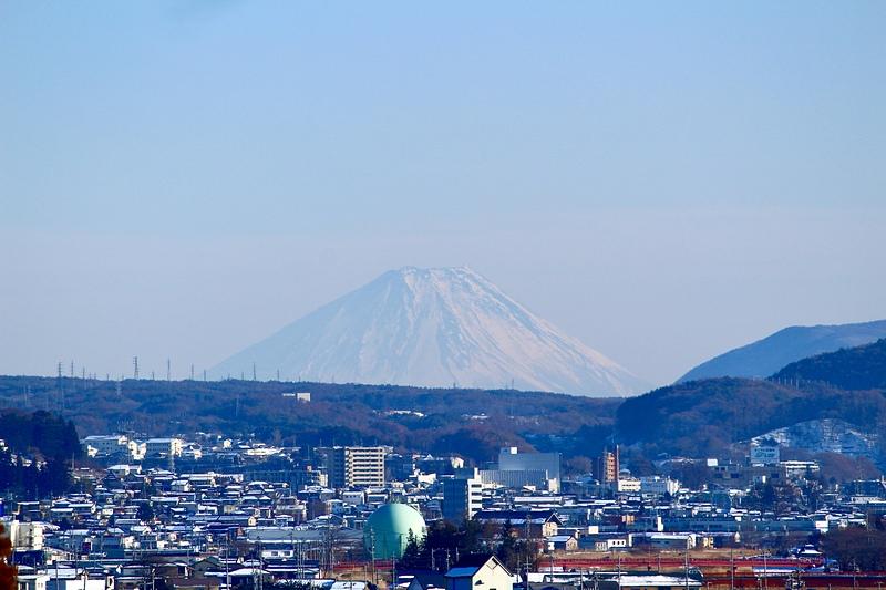 高島城 天守3階から見える富士山