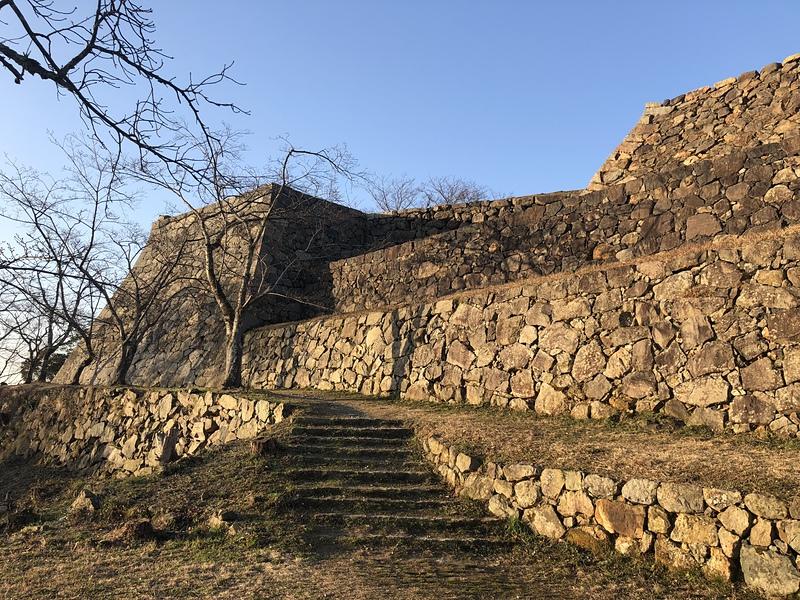 早朝の米子城