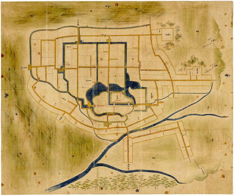 最上東根城絵図