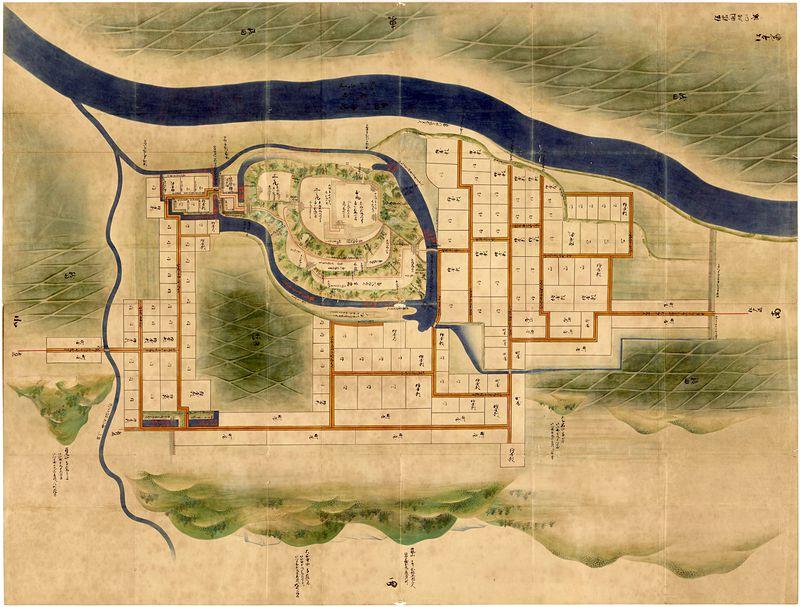信濃国飯山城絵図