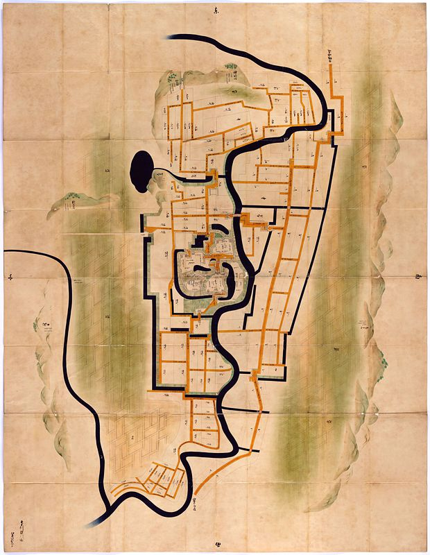 遠州掛川城絵図