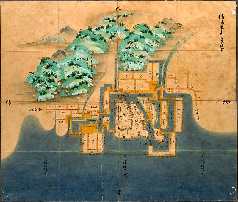 備後国之内三原城所絵図